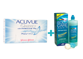 Acuvue Oasys with Hydraclear Plus (6 buc)+ Solocare (360 ml)